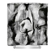 Abstract Monochome 165 Shower Curtain
