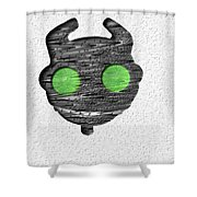 Abstract Monster Cut-out Series - Ferko Shower Curtain