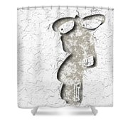 Abstract Monster Cut-out Series - Sandstone Trooper Shower Curtain
