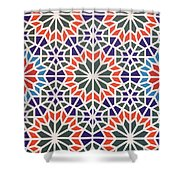 Abstract Moroccon Tiles Colorful Shower Curtain