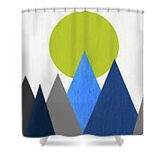 Abstract Mountains And Sun Shower Curtain