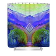 Abstract Mountains By Nixo Shower Curtain