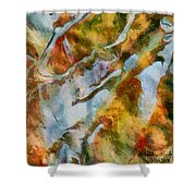 abstract mountains I Shower Curtain