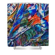 abstract mountains II Shower Curtain