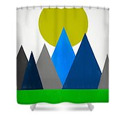Abstract Mountains Landscape Shower Curtain