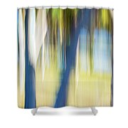 Abstract Moving Trees 30 Shower Curtain