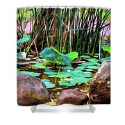 Abstract Nature 4043 Shower Curtain
