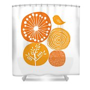 Abstract Nature Orange Shower Curtain