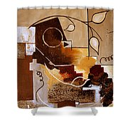 Abstract Nature Wall Shower Curtain