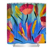 Abstract No. 3 Shower Curtain