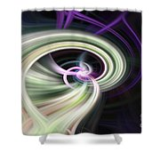 Abstract Number 13 Shower Curtain