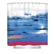 Abstract Ocean Shower Curtain
