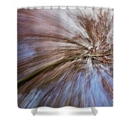 Abstract Of A Spring Tree In Bloom. In Camera Effect. Shower Curtain