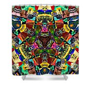 Abstract Of Abundant Colors Shower Curtain