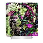 Abstract Of An Iris Shower Curtain