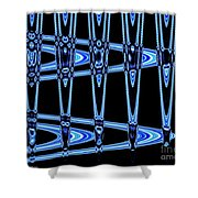 Abstract Of Blue Clock Works Shower Curtain