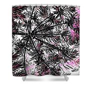Abstract Of Ever Green Bush Shower Curtain