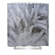 Abstract Of Ice Shower Curtain