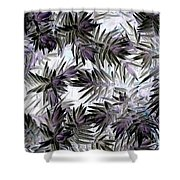 Abstract Of Low Growing Evergreen Shrub Shower Curtain