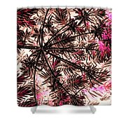Abstract Of Low Growing Shrub  Shower Curtain