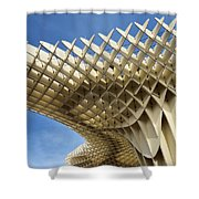 Abstract Of Metropol Parasol Pod At Plaza Of The Incarnation Sev Shower Curtain