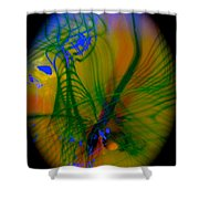Abstract Of Music And Harmony Shower Curtain