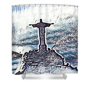 Abstract Of Our Saviour  Shower Curtain