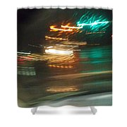Abstract Of Racing Cars Shower Curtain