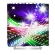 Abstract Of Stage Concert Lighting Shower Curtain