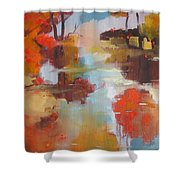 Abstract Of Wild Auge River  Shower Curtain