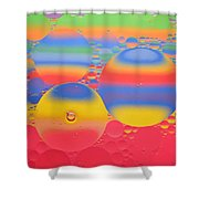 Abstract Oil And Water 7 Shower Curtain