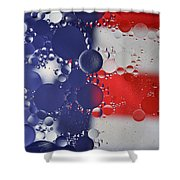 Abstract Oil And Water Usa 2 Shower Curtain