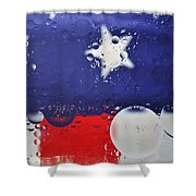 Abstract Stars And Stripes Shower Curtain