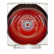 Abstract Old Car Framed Shower Curtain