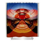 Abstract Old Car Spare Tire Shower Curtain