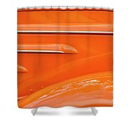 Abstract Orange '35 Shower Curtain