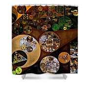 Abstract Painting - Antique Brass Shower Curtain