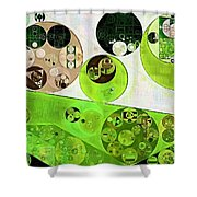Abstract Painting - Black Bean Shower Curtain