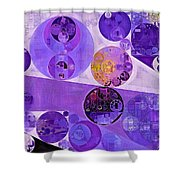 Abstract Painting - Blackcurrant Shower Curtain
