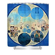 Abstract Painting - Curious Blue Shower Curtain