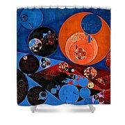 Abstract Painting - Dark Midnight Blue Shower Curtain