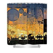 Abstract Painting - Davy Grey Shower Curtain