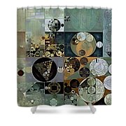 Abstract Painting - Dove Grey Shower Curtain