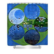 Abstract Painting - Everglade Shower Curtain