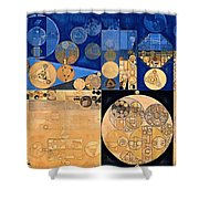 Abstract Painting - Fawn Shower Curtain