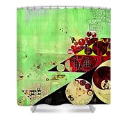 Abstract Painting - Feijoa Shower Curtain
