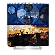 Abstract Painting - French Beige Shower Curtain