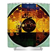 Abstract Painting - Gamboge Shower Curtain