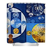 Abstract Painting - Havelock Blue Shower Curtain