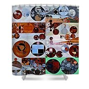 Abstract Painting - Heather Shower Curtain
